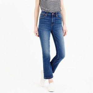 J. Crew Billie Demi boot crop high rise jeans